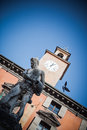 Reggio emilia town hall the in prampolini square italy Royalty Free Stock Photography