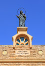 Regina palastina statue of maria on monastery catholic church of the mother of god the queen of palestine and holy land deir rafat Royalty Free Stock Photography