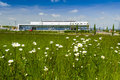 Regional airport kassel germany the main building with the entrance of the newly opened calden surrounded by flower meadow Royalty Free Stock Images