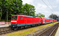 A regional express train in Kiel Central Station Royalty Free Stock Photo