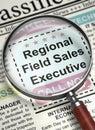 Regional Field Sales Executive Job Vacancy. 3D.