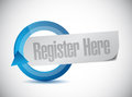 Register here message illustration design over a white background Stock Photography