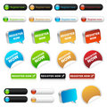 Register now buttons Royalty Free Stock Photography
