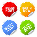 Register now icon Stock Photography