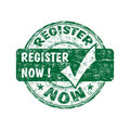 Register now stamp Stock Images