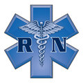Registered nurse star of life medical symbol illustration a blue design in a Royalty Free Stock Photography