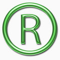 Registered symbol Royalty Free Stock Photos