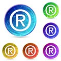 Registered symbol icon digital abstract round buttons set illustration