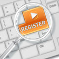 Registration concept with keyboard button Royalty Free Stock Images