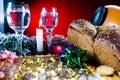 Regolazione festiva della tabella di festa Fotografie Stock