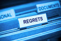 Regrets Remorse Memories Past Royalty Free Stock Photo