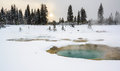 Regroupement thermique au pouce occidental, Yellowstone Photos stock