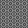 Regular black and white curtain pattern aligned in square. Halftone rich pattern illustration. Abstract fractal background