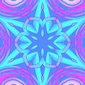 Regular centered star ornament turquoise purple pink violet