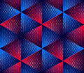 Regular colorful endless pattern with intertwine three dimension dimensional figures continuous geometric background clear eps Stock Images