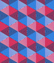 Regular colorful endless pattern with intertwine three dimension dimensional figures continuous illusory geometric background Royalty Free Stock Image