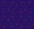 Regular colorful endless pattern with intertwine three dimension dimensional figures continuous illusory geometric background Royalty Free Stock Photography