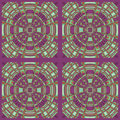 Regular concentric circles ornament purple green orange squares