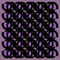 Regular ellipses ornaments black and purple framed