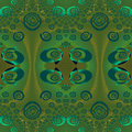 Regular ellipses and spirals pattern green brown gray turquoise Royalty Free Stock Photo