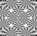 Regular intricate squares pattern black and white centered coloring page