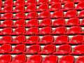 Regular red seats Royalty Free Stock Photo