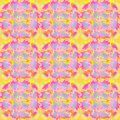 Regular round pattern in shifted squares yellow orange pink violet light blue Royalty Free Stock Photo