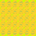 Regular rund pattern yellow green spirals overlaying