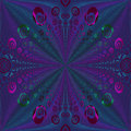 Regular spirals pattern purple blue green centered