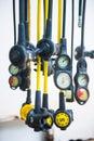 Regulator and pressure gauge for scuba diving Royalty Free Stock Photo