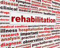 Rehabilitation medical message concept health recovery creative background Royalty Free Stock Images