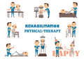 Rehabilitation physical therapy Royalty Free Stock Photo