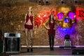 Rehearsal before fashion performance Art Chaos in night club Bla