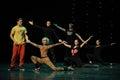 The rehearsal scene-the Austria's world Dance Royalty Free Stock Photo