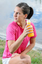 Rehydratation et sport Photo stock