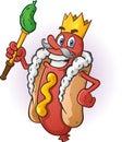 Rei cartoon character do cachorro quente Foto de Stock Royalty Free