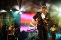 Rei Helder, Stage Musicians, Angola Flag Background, Celebrity Dancing