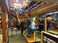 Rei interior eugene or usa january customers shopping in recreational equipment inc store is a retailer of outdoor gear with Royalty Free Stock Photos