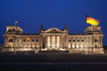 The reichstag in berlin germany at dusk Stock Photography