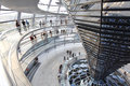 Reichstag dome at the German parliament Royalty Free Stock Photo