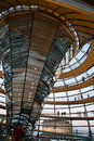 Reichstag dome interior berlin germany july tourists inside the glass of the in berlin germany july Stock Images