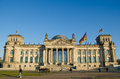 Reichstag german parliament building in berlin germany november facade seen from opposite the paul loebe haus on nov the houses Royalty Free Stock Image