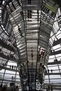 Reichstag - parliament building, inside the glass dome. Berlin Stock Photography