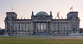 Reichstagsgebã ude panorama of the in berlin in the morning Stock Images
