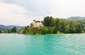 Reifnitz castle austria on lake worth in carinthia Stock Image