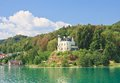 Reifnitz castle on lake worth carinthia austria view of in Stock Photos