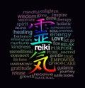 Reiki Words of Wisdom on Black
