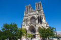 Reims cathedral in champagne region france on july this is a famous tourist site in france Royalty Free Stock Images