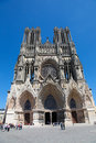 Reims cathedral france july in champagne region france on july this is a famous tourist site in france Stock Image