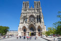 Reims cathedral france july in champagne region france on july this is a famous tourist site in france Stock Photos